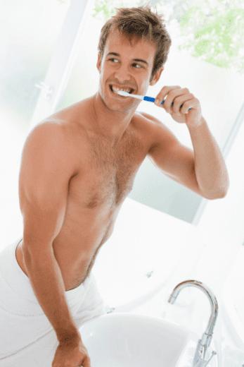 washing teeths